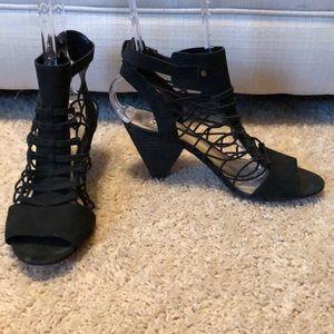 Vince Camuto Black Leather Sandals-Sz 9